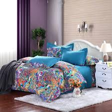 blue and green comforter sets orange purple bedding bed frame brown
