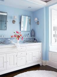 white and blue bathroom design