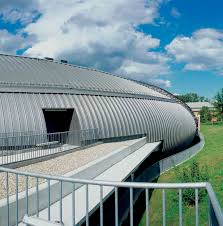 corrugated sheet metal curved aluminum for facades kalzip xt