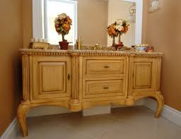 rustic pine bathroom vanities. Special Pine Bathroom Vanity Creating Rustic Room Impression : Beautiful Flowers Decor Beside Crane On Top Vanities O