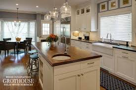 distressed solid wood island countertops
