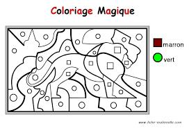Coloriage Magique Pour Les Plus Petits Un Lion Coloriage Cod Coloriage Magique Hiver Maternelle L