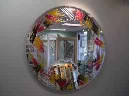 decorative bathroom mirror. Mirror Abstract Pattern Border Brilliant Brushes. Brushes Primary Decorative Bathroom