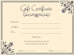 Free Business Gift Certificate Template Free Printable Beauty Salon