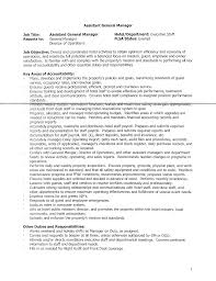 Property Manager Job Description Samples General Manager Assistant Job Description Template