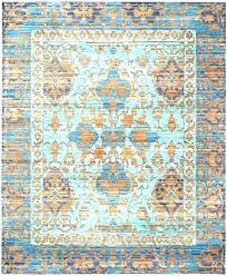 blue gold rug light abstract area reviews cozy and rugs regarding