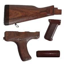Romanian AK 47 Stock Set – 4 Piece Wood AK 47 Furniture Set