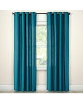 Natural Solid Curtain Panel Turquoise (54