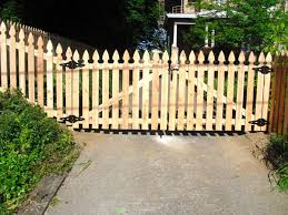 picket fence double gate. Gothic Picket Double Drive Gate Fence P