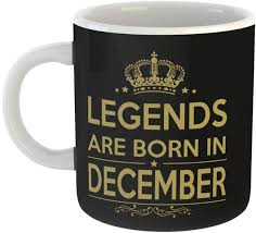 Mugs4you Legendds Are Born In December Balloon Happy Birthday Mug
