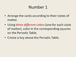 Patterns in the Periodic Table. Drill Do you think there is a ...