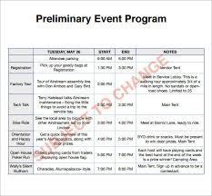 Program Of Events Sample Sample Programs For Events Barca Fontanacountryinn Com