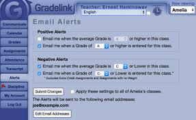 email teacher parent communication gradelink