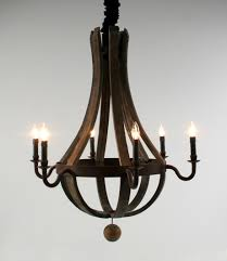 wine barrel lighting. wine barrel chandelier lighting n