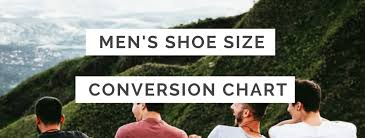 Mens Shoe Size Conversion Chart Us Uk Eu Au Ind