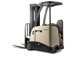 stand up forklift rc series crown lift trucks 3 wheel stand up forklift