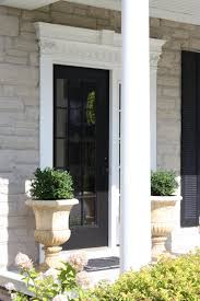 black glass front door. Excellent Image Of Front Porch Decoration Using Single Black Wood Frame Full Glass Entry Door Including O