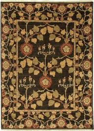 classic arts and crafts brown yellow wool area rug ash classic