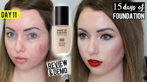 new makeup for ever waterblend foundation acne pale skin first impression 15 days of foundation you