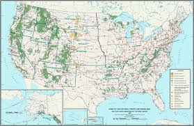 map of usa interstate highways at us national park system