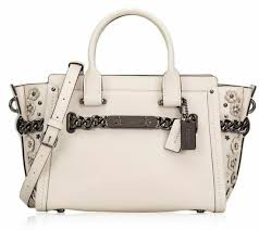 coach swagger 27 glovetanned leather willow fl bouquet chalk bag