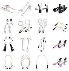 <b>1 Pair Metal</b> Bell Nipple Clamps With Chain Clips Flirting Teasing ...