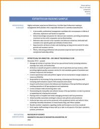 Template New Esthetician Resumes Best Resume Example Medical