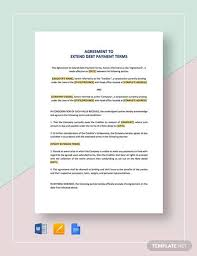 Sample Agreement To Pay Debt Payment Agreement Contract Sample 17 Examples In Word