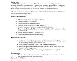 Resume Objective Examples For Bank Teller Of Resumes Skills Image