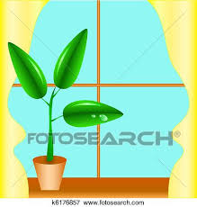 window sill clipart. Plain Sill Clip Art  Flowerpot On A Window Sill With Yellow Curtains  Fotosearch And Window Sill Clipart