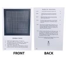 Amsler Chart Working Distance Near Card Amsler Grid Eye Cards Eye Charts Vision