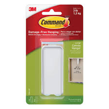 Command Strip Coat Rack Command Large White Canvas Picture Hanger 100Canvas Hanger 100 49