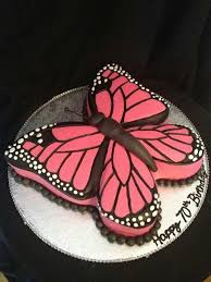Pretty Butterfly Cake For Abbys 6th Birthday Maybe Cupcakes In