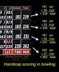Daily Handicap Lookup Chart Glossary Of Bowling Wikipedia