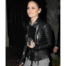 Rachel Bilson Leather Jacket | Womens Black Quilted Jacket & ... Rachel Bilson Black Quilted Leather Jacket ... Adamdwight.com