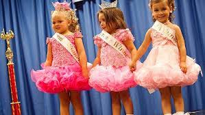 child beauty pageants beneficial or harmful whats the deal  shown are dresses that are usually modeled during child pageants heraldsun com au