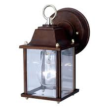 inspiring outside lights glass material box and big lamps are lit inside