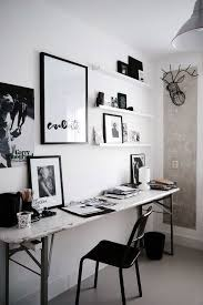 Beautiful, classic, and elegant are the words that come to mind for this  office space with a black and white ...