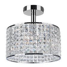 crystal ceiling light for bathroom