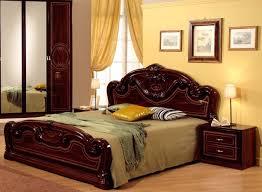 Joy High Gloss Mahogany Italian Bed frame