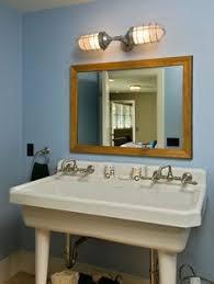 Public bathroom mirror Interior Impressive Kohler Coralis Mode Other Metro Rustic Bathroom Decorating Ideas With Baseboards Bathroom Mirror Blue Walls Double Sink Freestanding Sink Pinterest 91 Best Public Restrooms Images Washroom Apartment Bathroom
