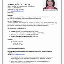 Professional Objective Education Resume Best Curriculum Vitae Sample