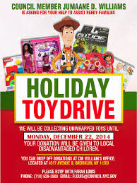 donate to a holiday drive brooklyn community board brooklyn click here to view the flyer toys will be donated to local disadvantaged children please bring new unwrapped toys to city councilman jumaane williams