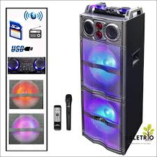 Befree Sound Triple 10 Subwoofer With Party Lights The Befree Sound Double 10 Inch Subwoofer Bluetooth Portable