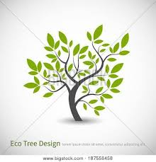 Tree Design Tree Logo Concept Of A Stylized Vector Tree With Leaves And Branches