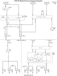 solved wiring diagram for mazda b2500 1998 fixya 21 1995 98 b series headlights w drl stop lights turn hazard lights chassis schematics