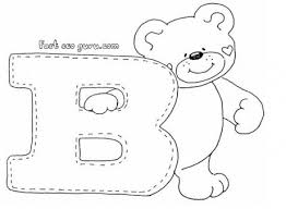 Small Picture Print out letter B is for bear coloring pages for preschoolers