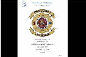Report Released In Polk County Florida Fatal Fire