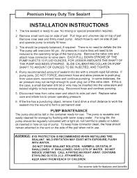 Tire Ballast Chart 5 Gal Pail Installation Directions Tire Application Chart