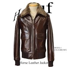 military jacket men s horse leather horsehide leather blouson g1 haruf brand leather jacket military blouson leather jacket mens pdb
